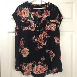 Sweet Wanderer floral maternity shirt top XL
